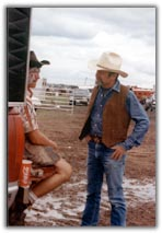 Lee Downey one-on-one ministry at rodeo