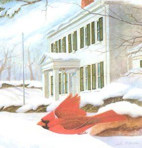 Cardinal at Dusk print by John Ruthven Clinton County History Center