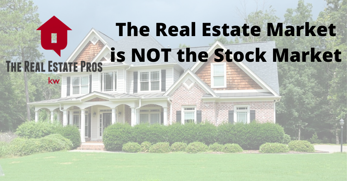 The Real Estate Market is NOT the Stock Market