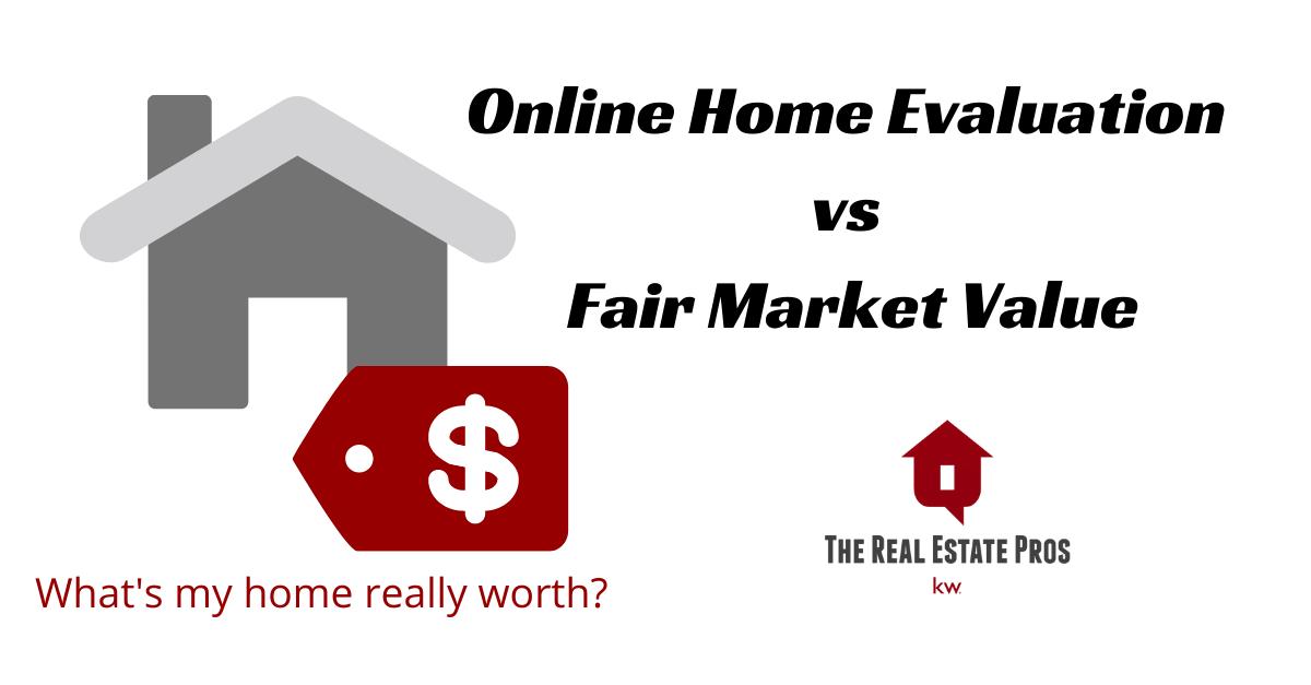 Online Home Valuation vs Fair Market Value