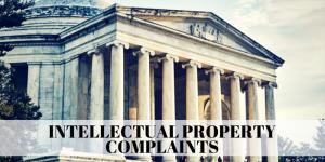 Intellectual Property Complaints Amazon