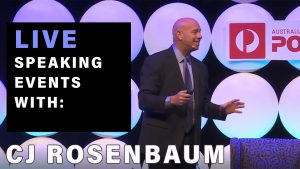 CJ Rosenbaum Live Speaking Events