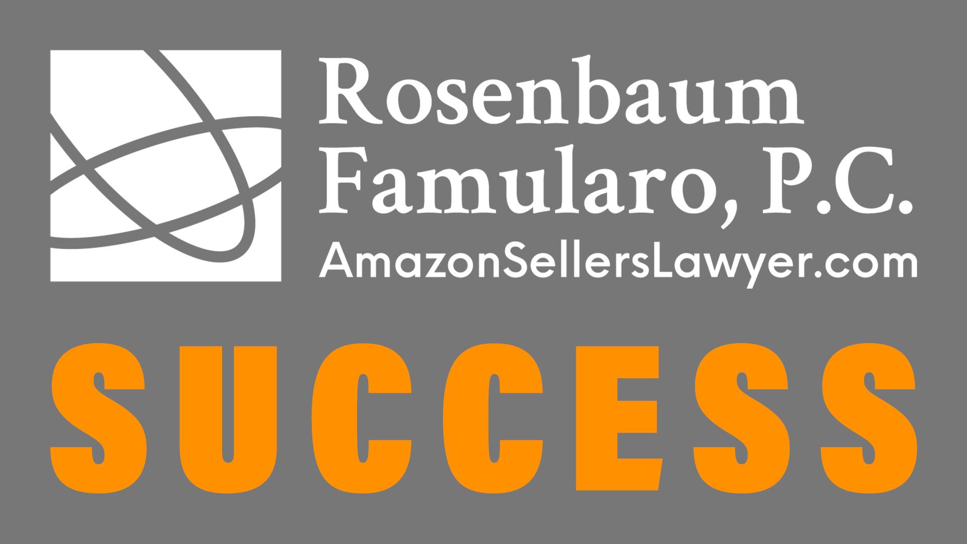 trademark complaint on Amazon seller