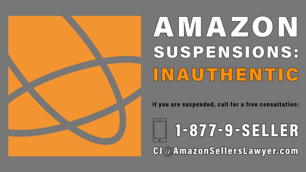 inauthentic item amazon suspensions