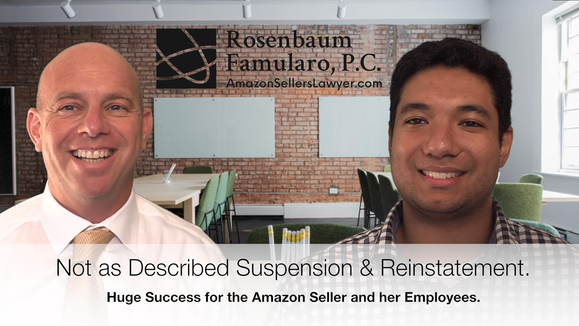 Not as Described Amazon Product Suspension