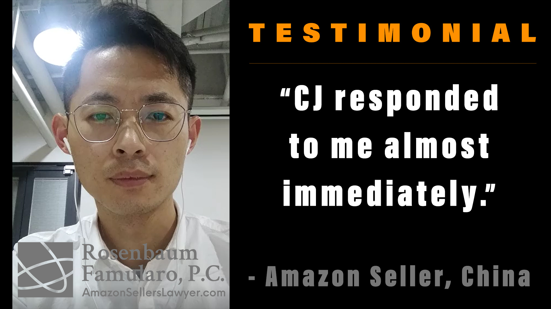 Seller Received Advice from CJ Immediately