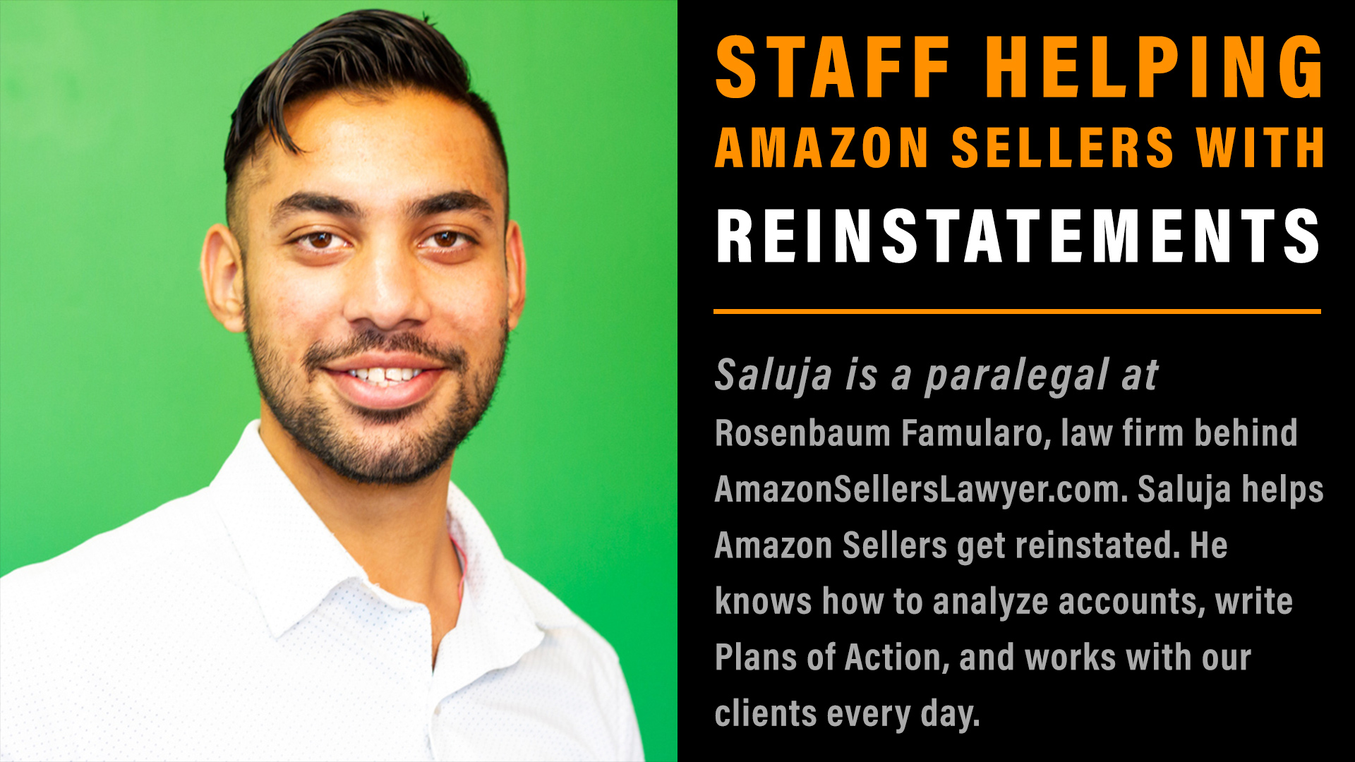 Staff Helping Amazon Sellers with Reinstatement