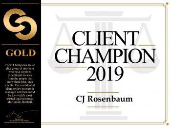 CJ Rosenbaum Client Champion 2019