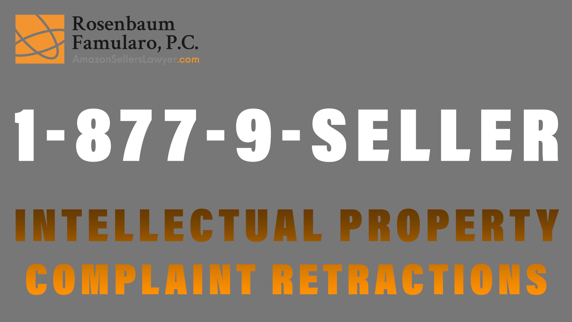Intellectual Property Complaint Retractions - design patent infringement