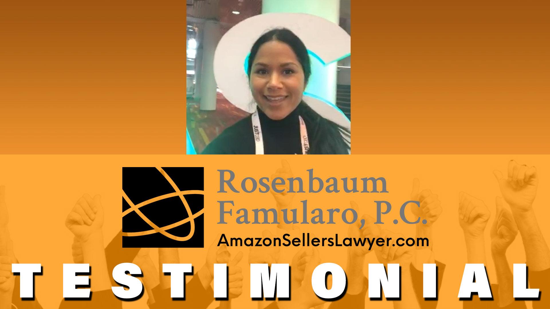 ASD market week testimonial for Amazon lawyer CJ Rosenbaum
