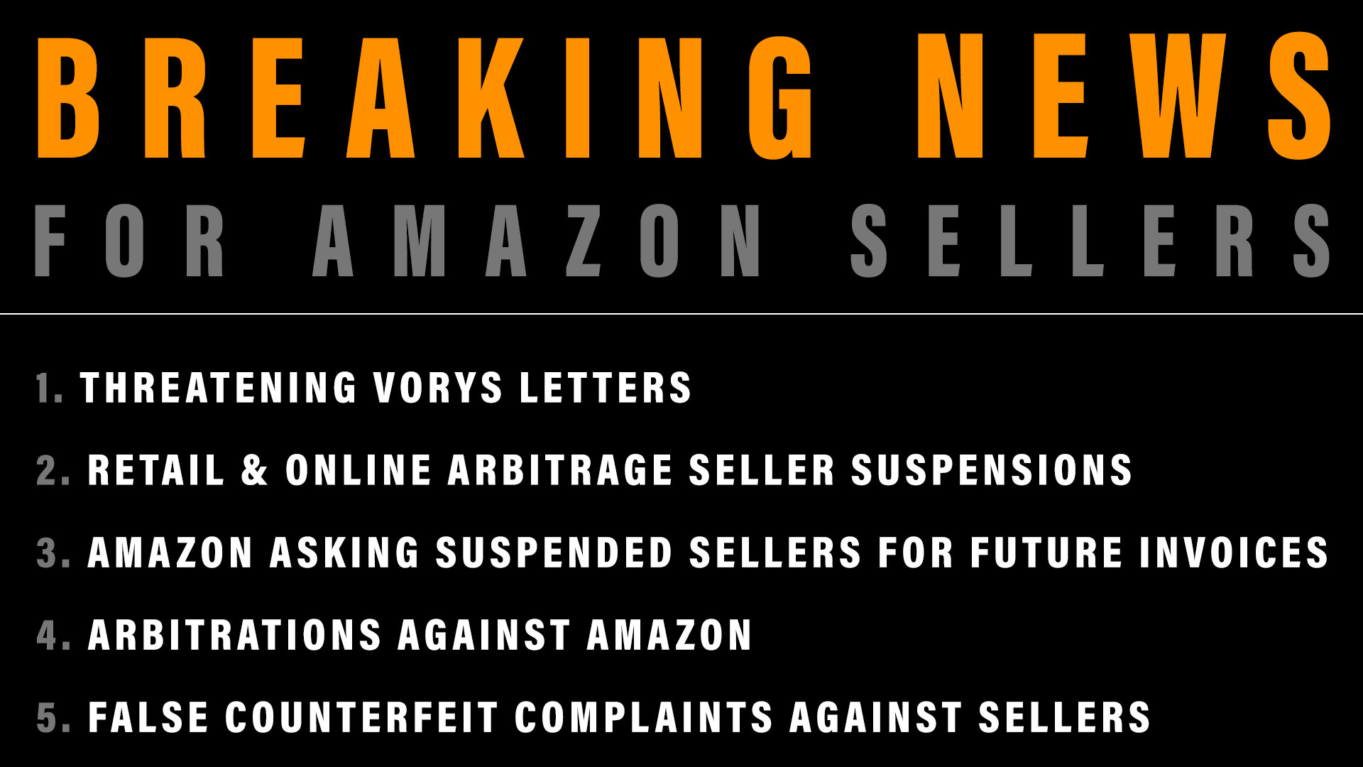 Amazon Seller News: VORYS LETTERS, RETAIL & ONLINE ARBITRAGE, AMAZON ASKING SUSPENDED SELLERS FOR FUTURE INVOICES, ARBITRATION AGAINST AMAZON, FALSE COUNTERFEIT COMPLAINTS