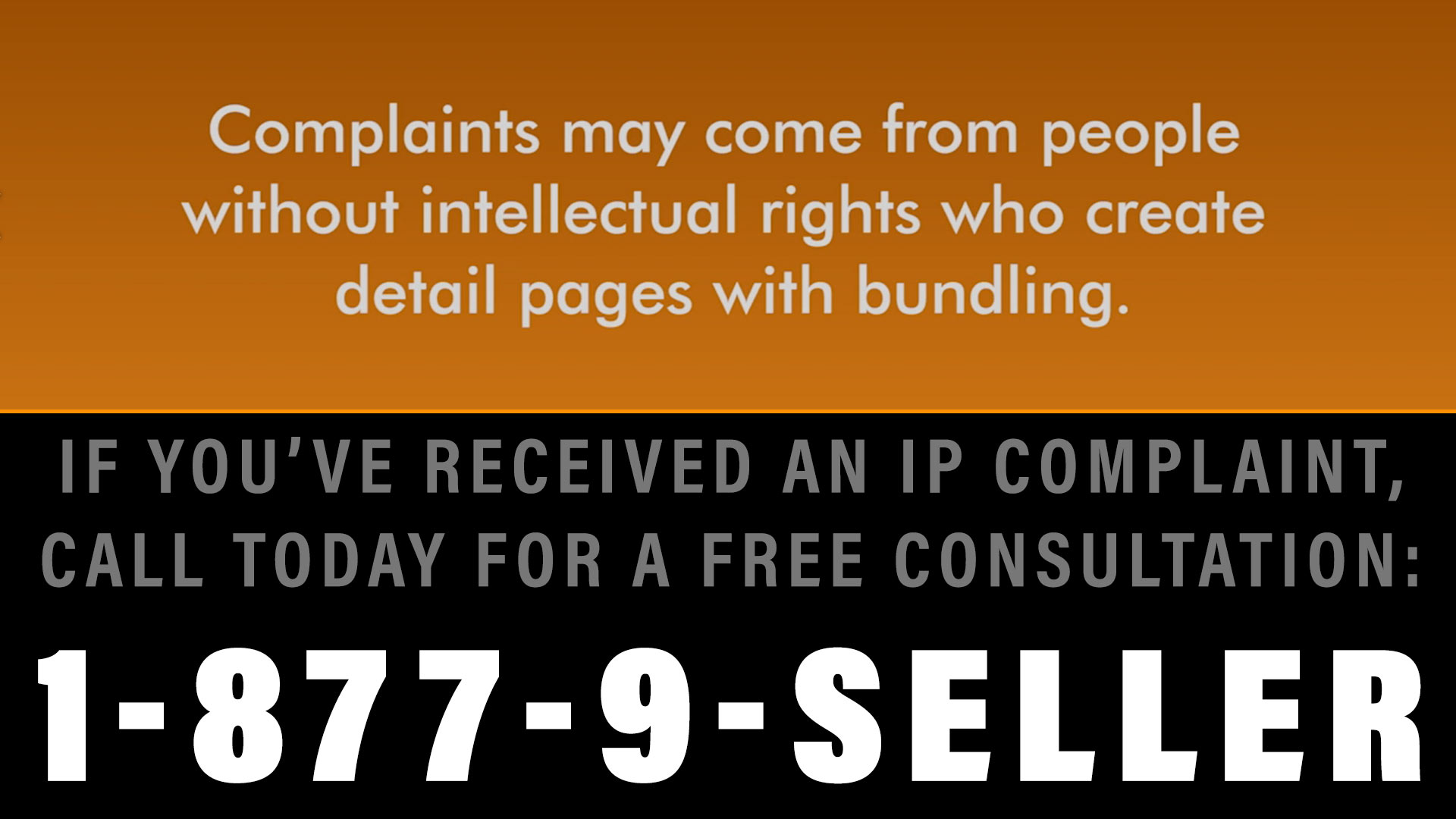 How to deal with IP complaints from individual Amazon sellers