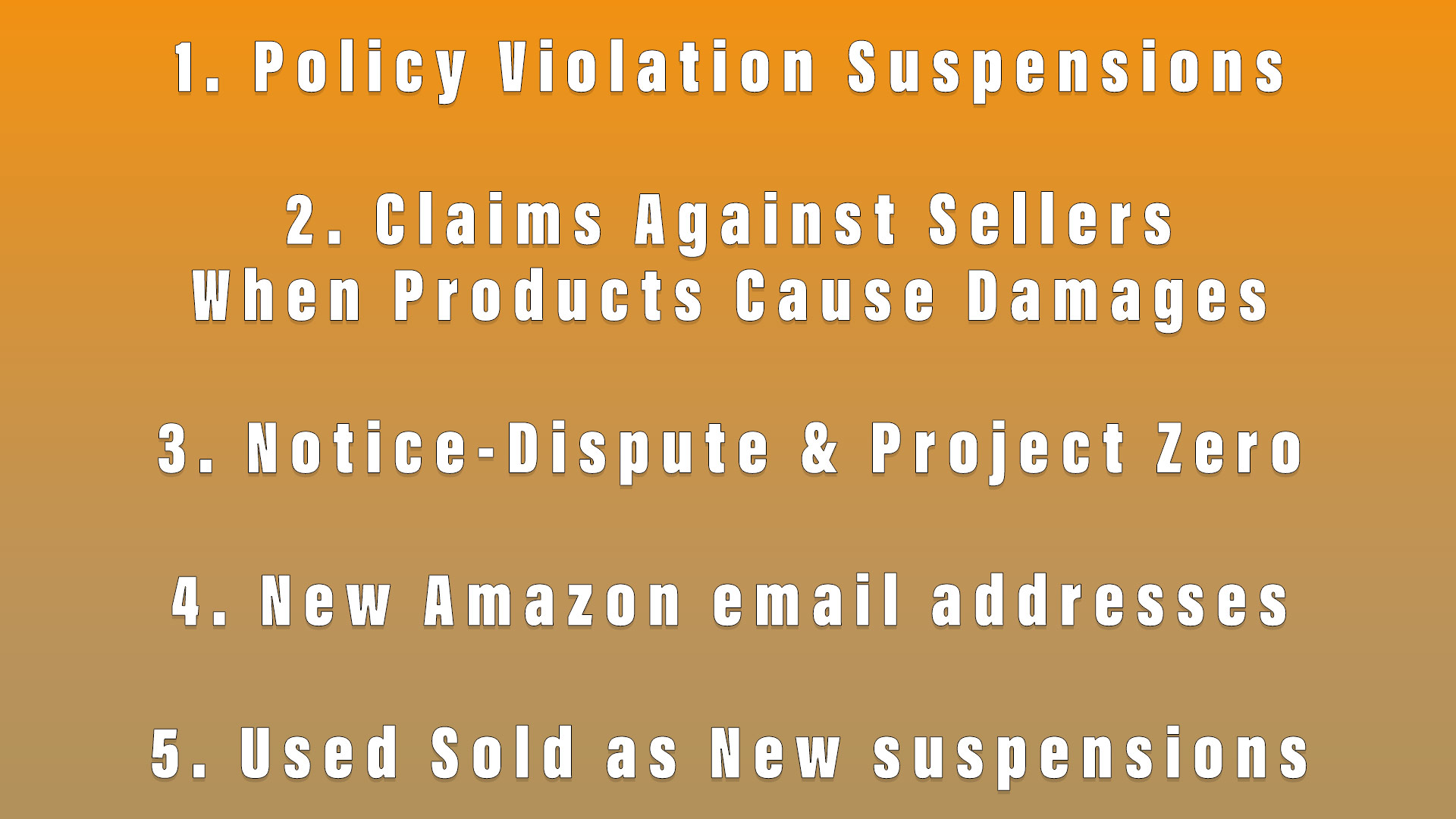 Amazon News: Policy Violation Suspensions, Claims Against Sellers when Products Cause Damages, Notice-Dispute & Project Zero, New Amazon email addresses, Increase in Used Sold as New suspensions