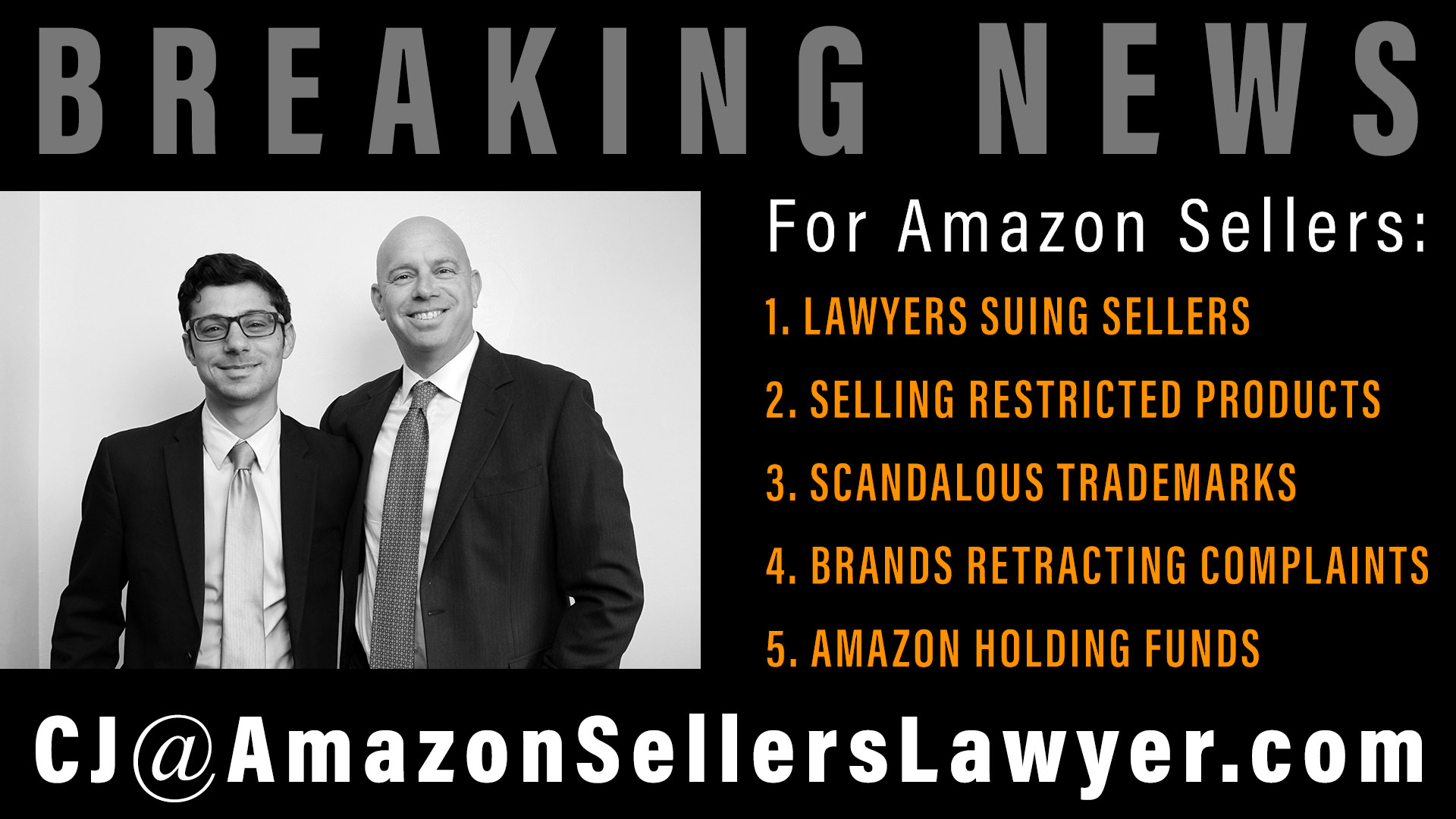 Amazon Sellers News - LAWYERS SUING SELLERS - SELLING RESTRICTED PRODUCTS - SCANDALOUS TRADEMARKS - BRANDS RETRACTING COMPLAINTS - AMAZON HOLDING FUNDS