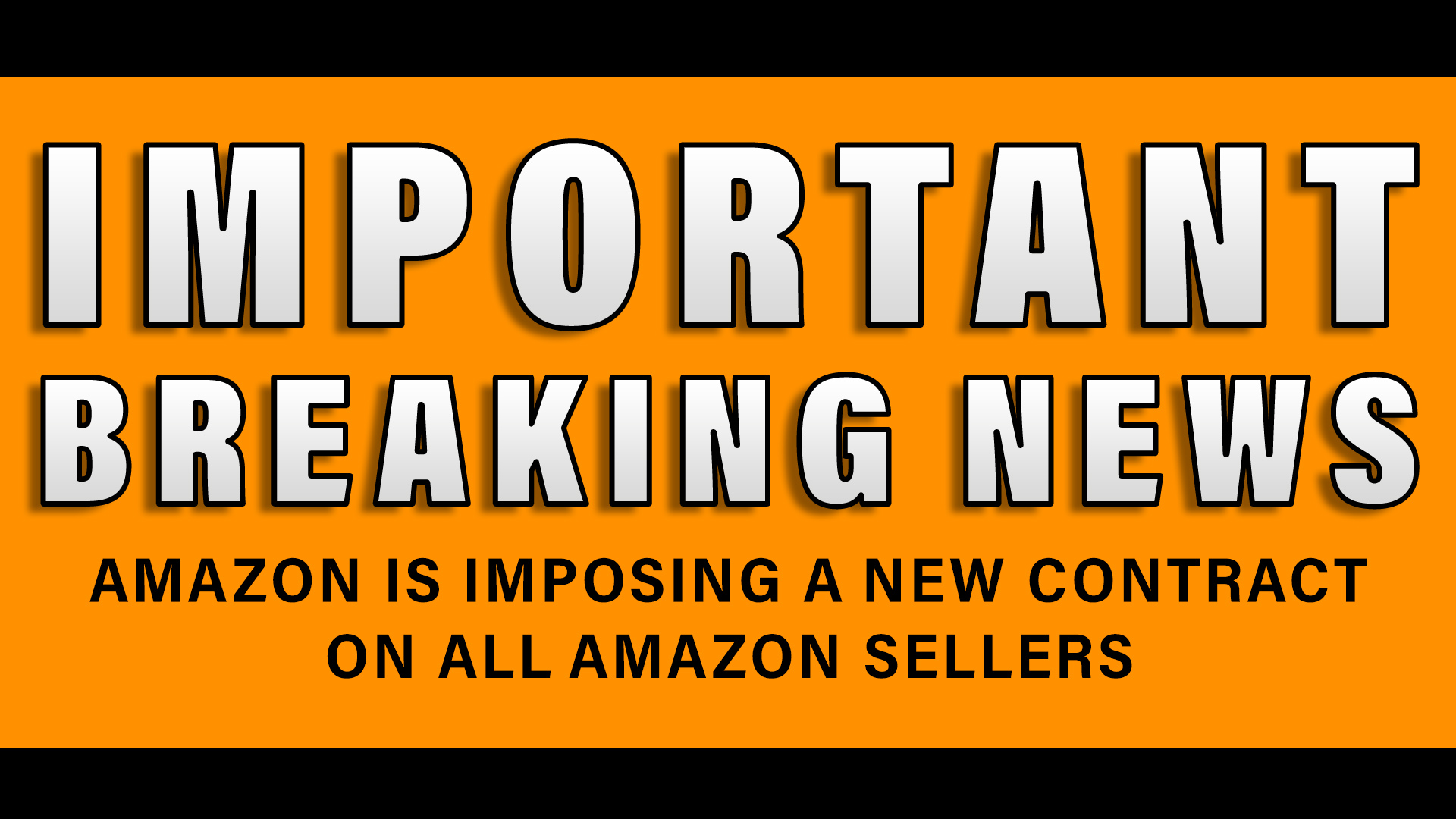 Amazon is imposing a new contract on ALL Amazon Sellers