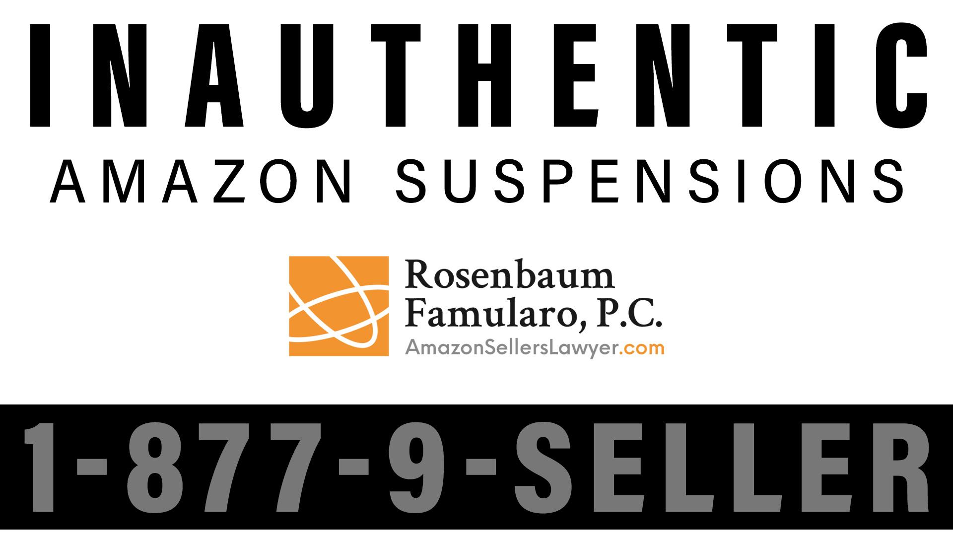 Inauthentic Suspension on Amazon
