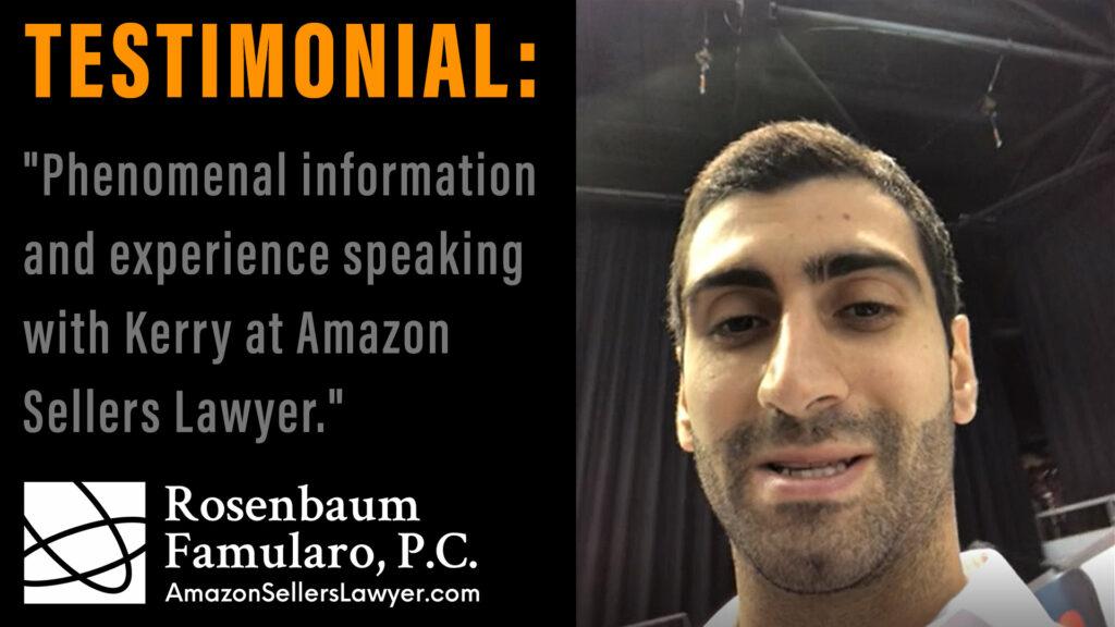 AmazonSellersLawyer.com testimonials