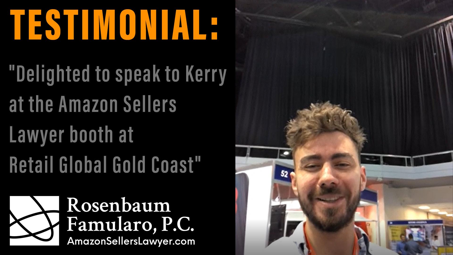 Amazon Sellers Lawyer Testimonials: Retail Global Gold Coast