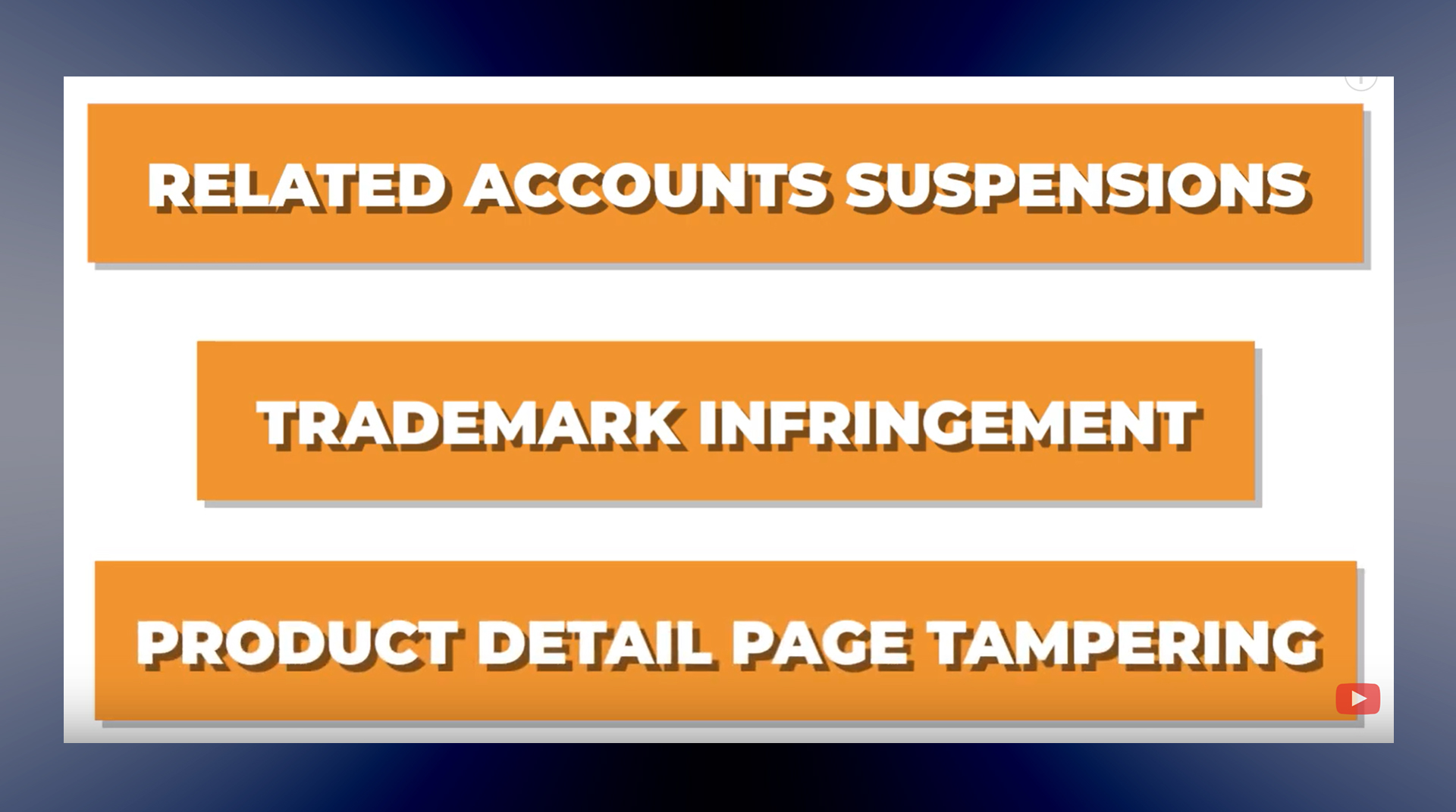 Amazon Seller Related Account Suspensions, Trademark Claims & Product Detail Page Tampering