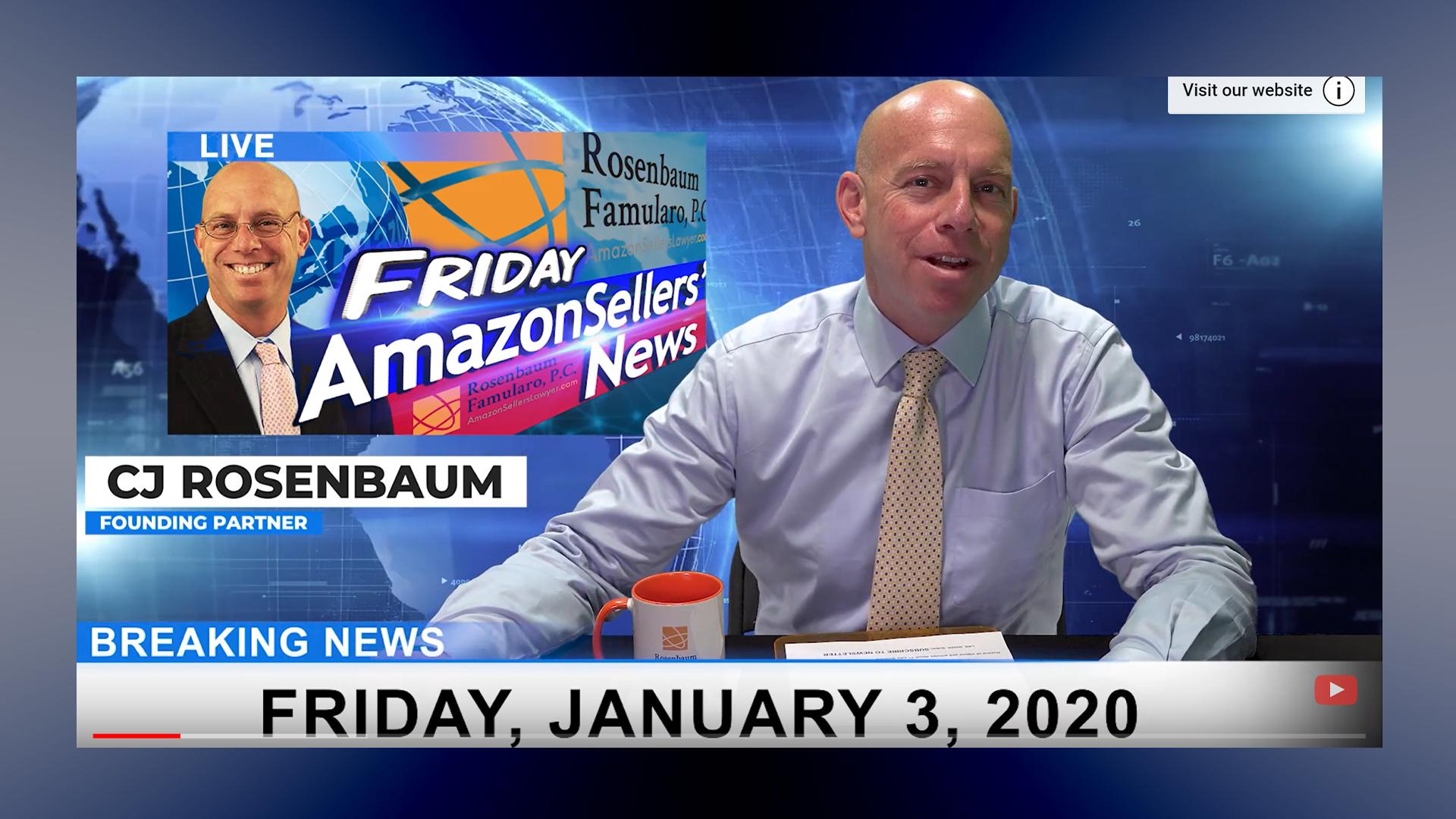 Amazon Sellers News 1-3-2020