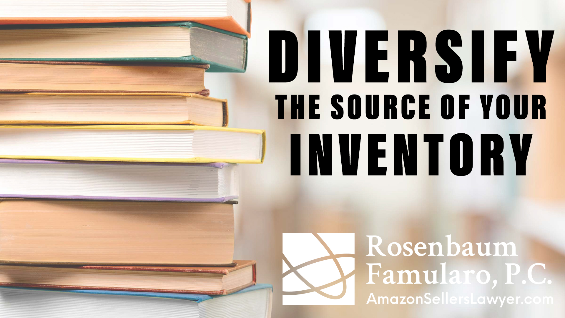 Book Sellers on Amazon Diversify the Source of Your Inventory