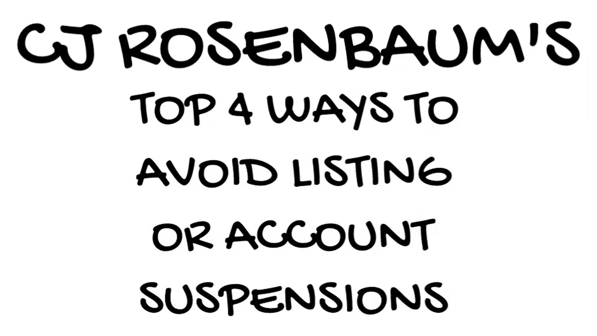 avoid an Amazon suspension