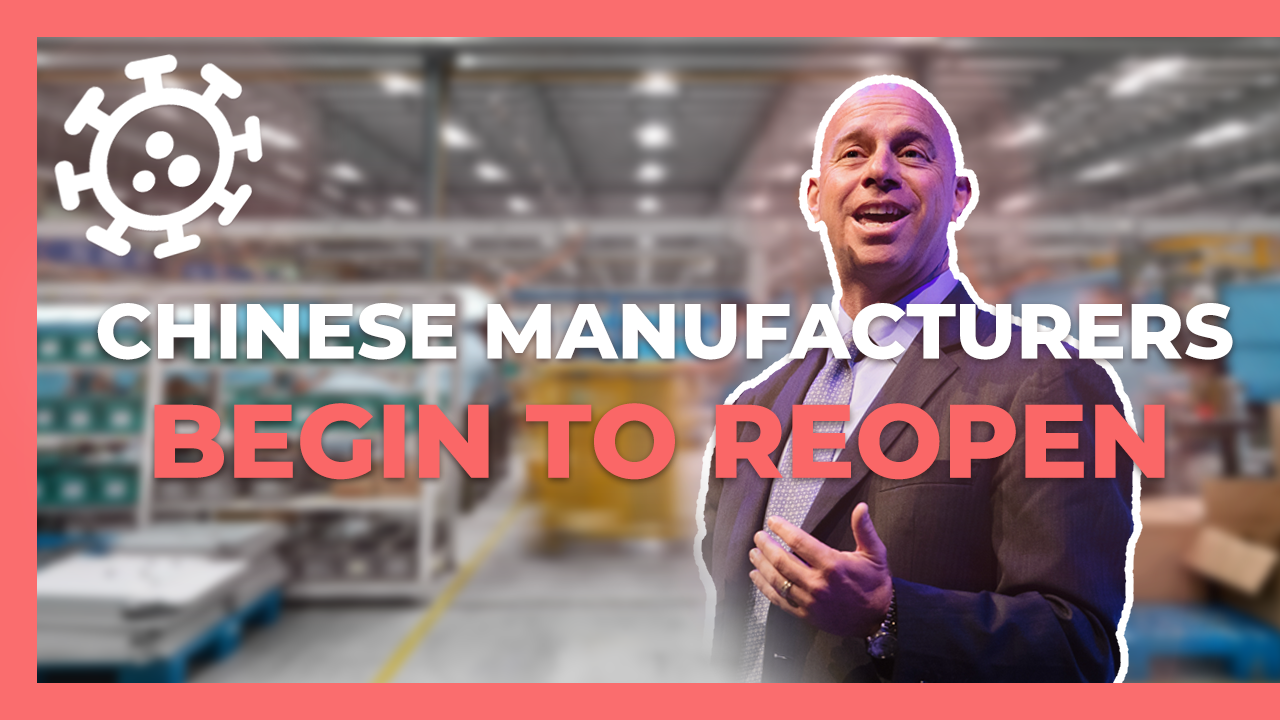 Chinese manufacturers reopen