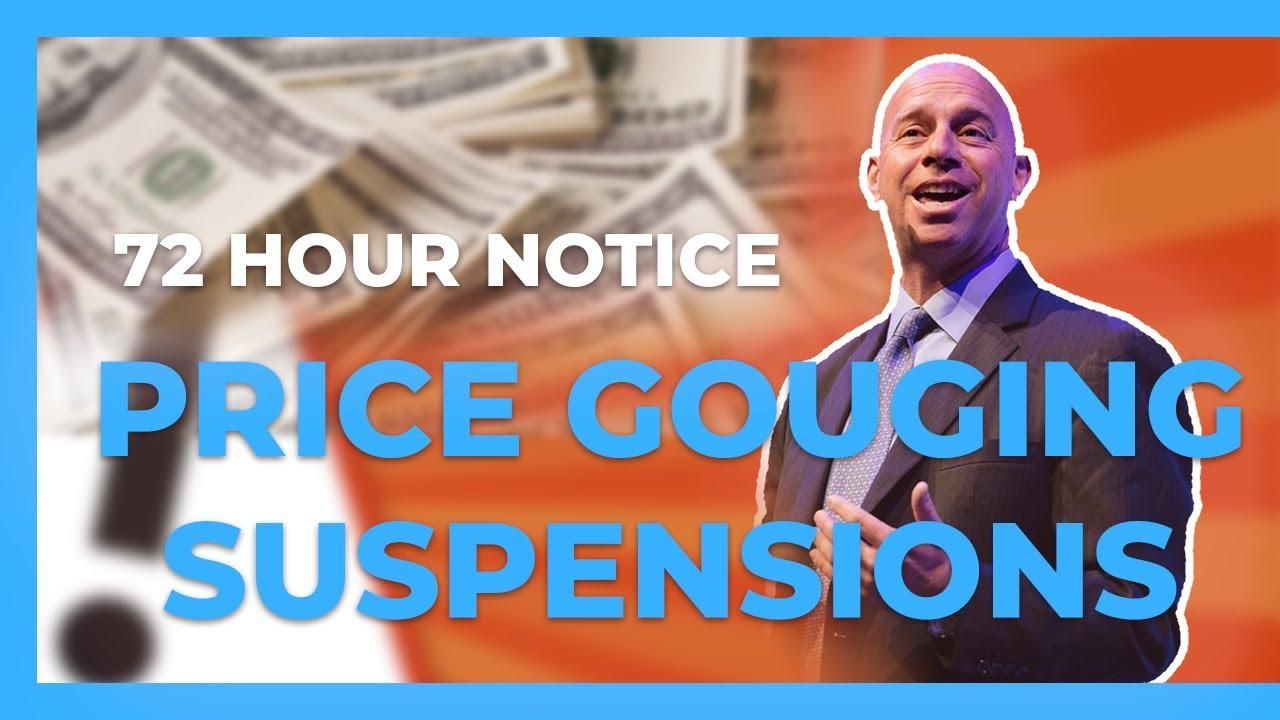 Price Gouging Suspension on Amazon - Winning Plan of Action