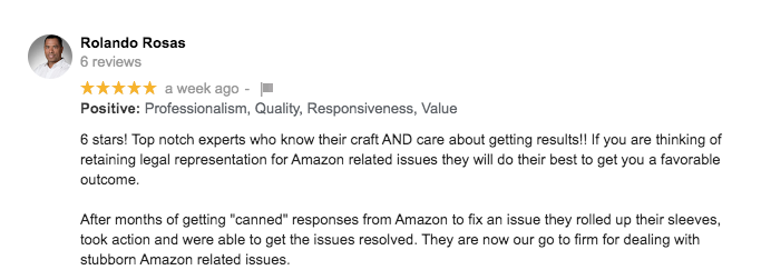 Amazon Sending Canned Responses To Your POAs