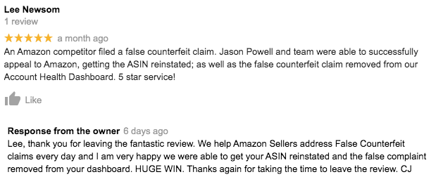 IP Complaints Against Your Amazon Account