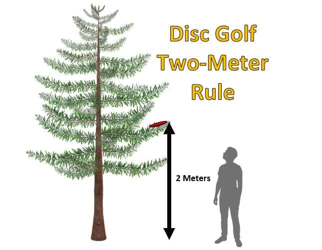 disc golf two-meter rule