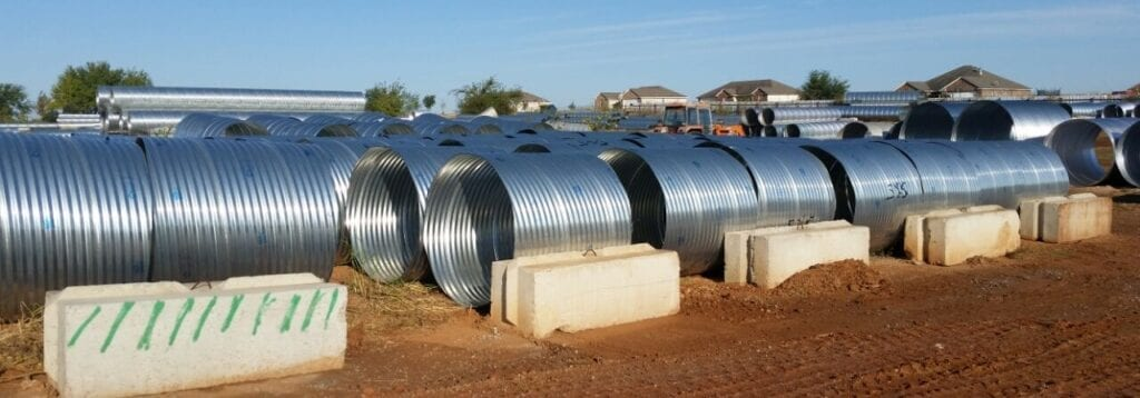 Steel pipe culverts, galvantized steel tinhorns Oklahoma