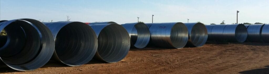 Oklahoma tinhorn metal pipes drainage pond elbows