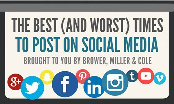 times to post on social media