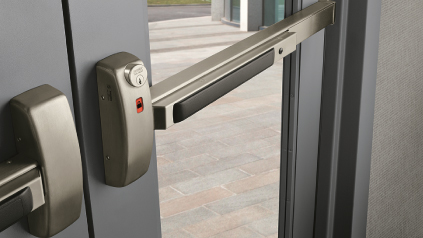 Las Vegas Commercial Locksmith Push Bar Door Example.