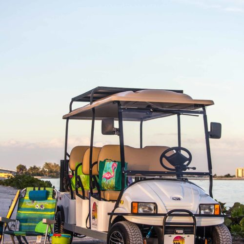Sanibel Carts 6-Seater Beach Gear