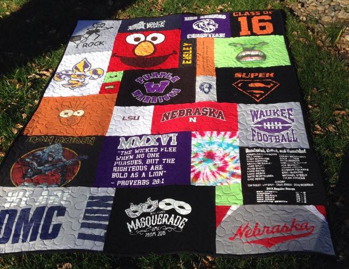 high school t-shirt quilt
