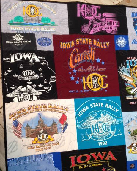 Iowa t-shirt quilt