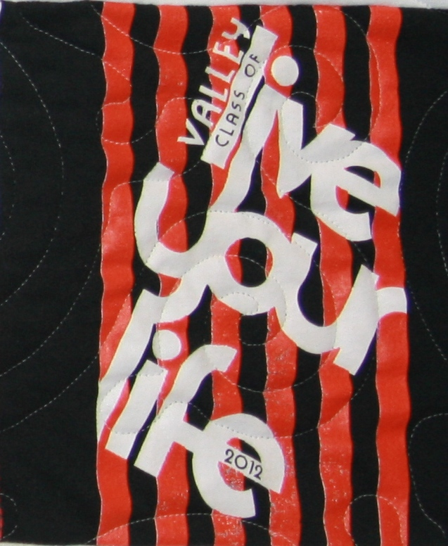 Live your life t-shirt quilt