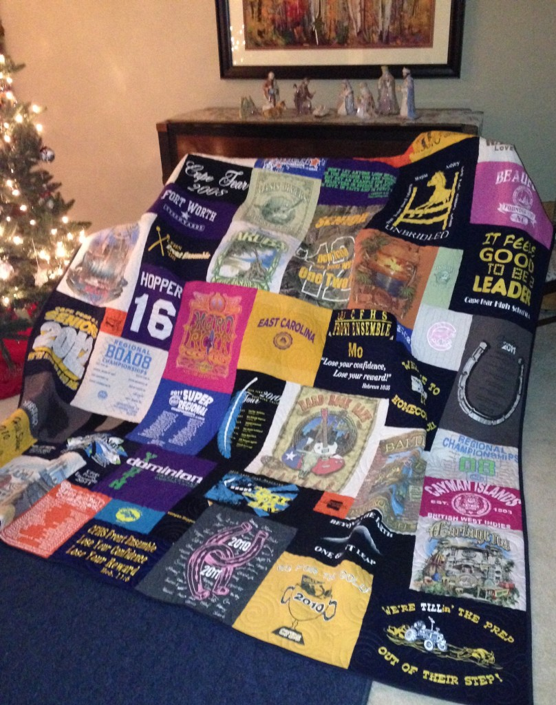 East Carolina t-shirt quilt