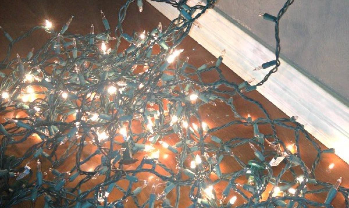 Broken Christmas lights