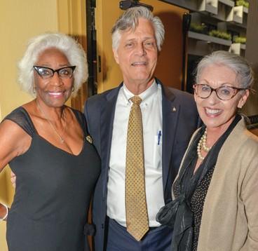 Barbara Essie, Mayor Eddie DeLoach, and Cynthia DeLoach
