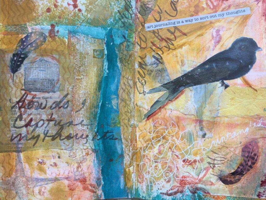 Self care through art journaling