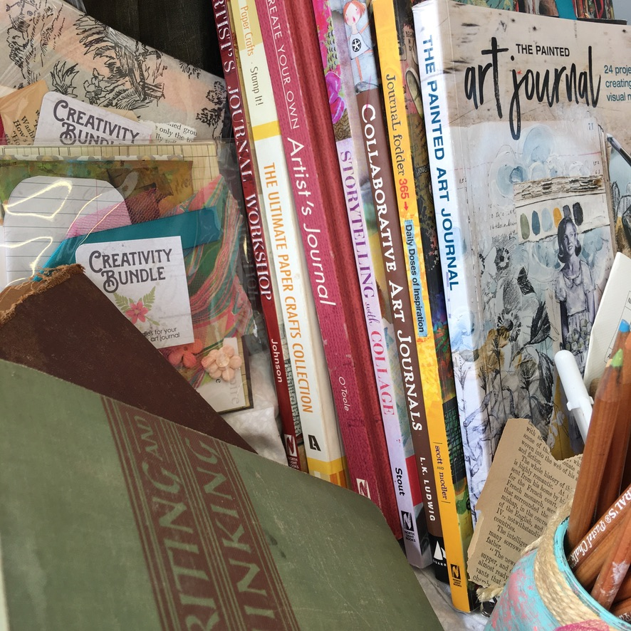 Some of my favorite books on Art Journaling. Best one is the first one by Jeanne Oliver!