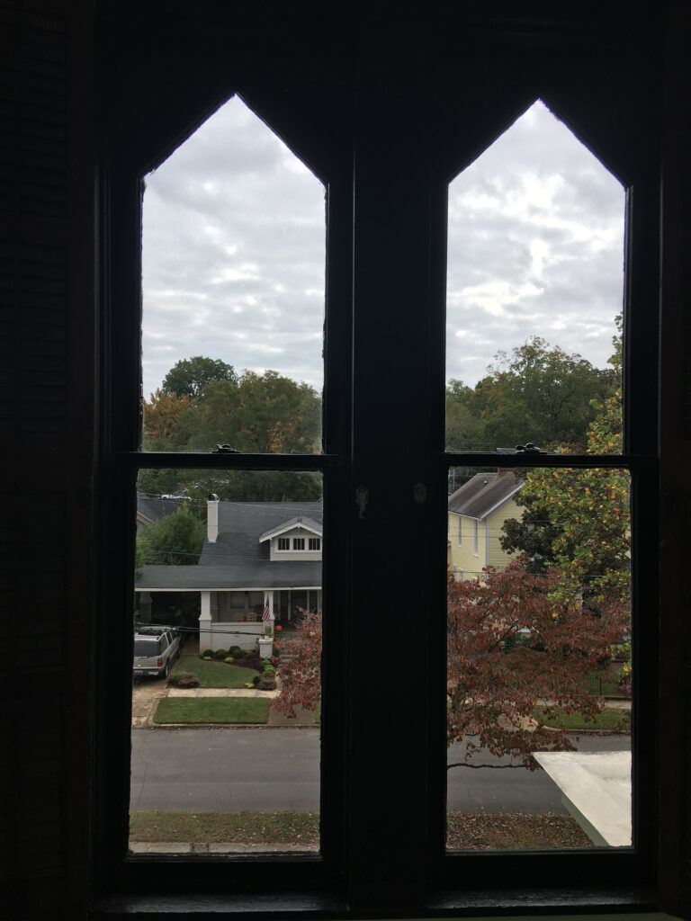 I love the shape of these windows