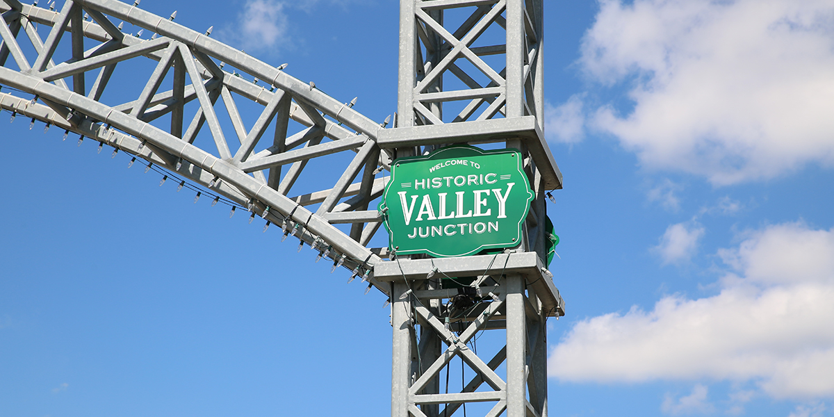 GoWest Historic Valley Junction SIgn