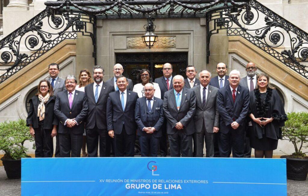 Grupo de Lima apoya el retorno a la democracia en Venezuela y a Juan Guaidó