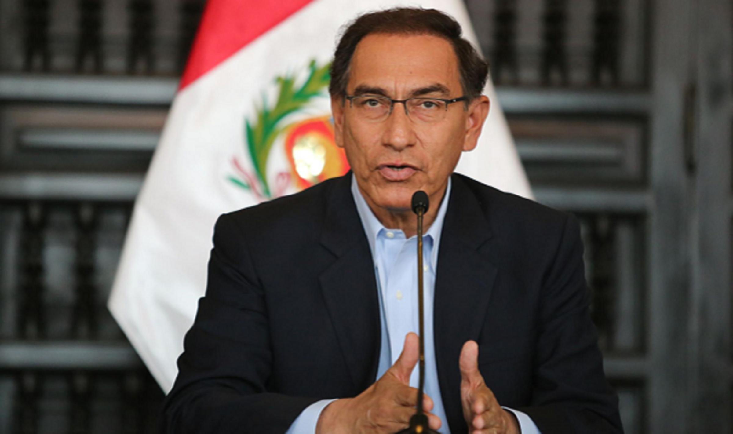Presidente Vizcarra cae en su índice de aprobación