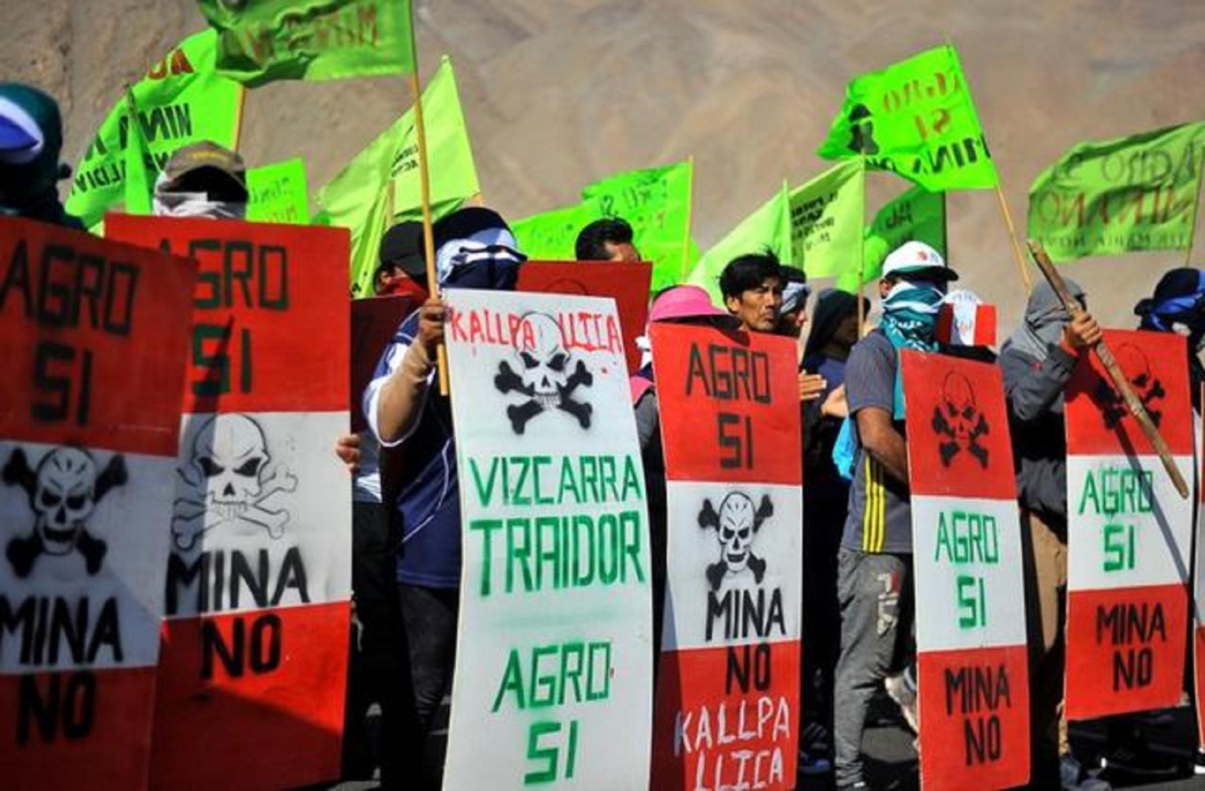Se inician protestas por proyecto Tía María