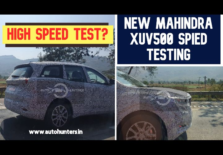 New Mahindra XUV 500 Spied Testing At 150 Kmph! Launch Soon?